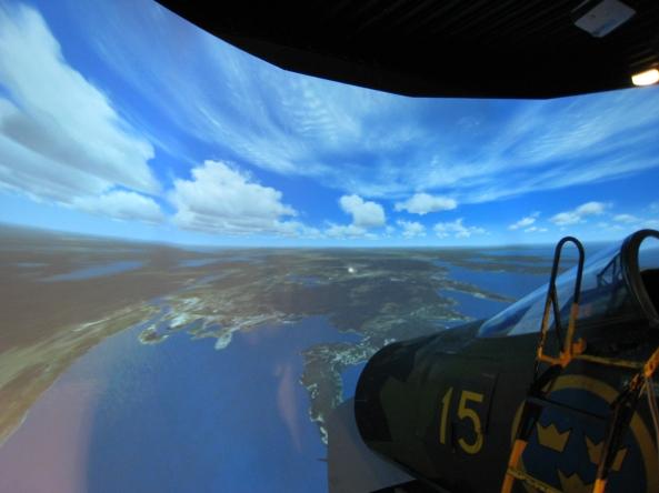 JA 37 Simulator now with cockpit
