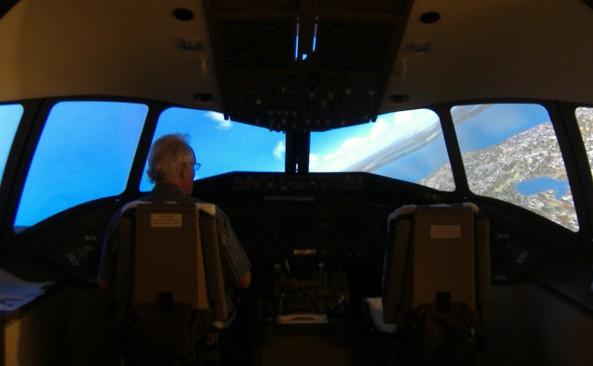 Boeing 777 simulator in Canada