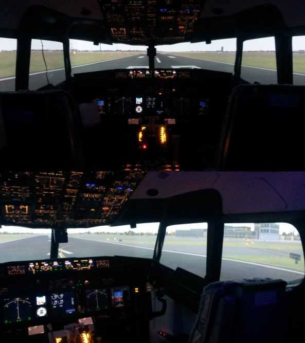 Boeing 737-800 simulator now running Warpalizer
