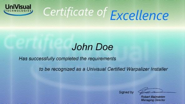 Certified Warpalizer Installer